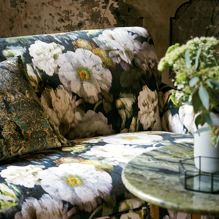 Herbaria fabric from Black Edition by Romo