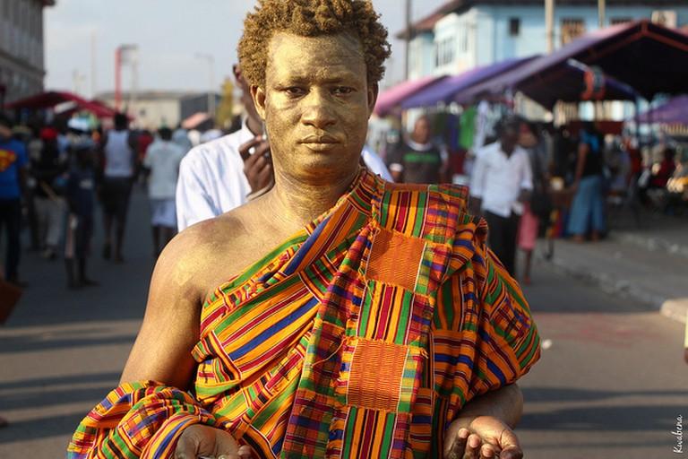 Artist Benard Akoi at Chale Wote Festival, (c) Kwabena Akuamoah-Boateng / Flickr