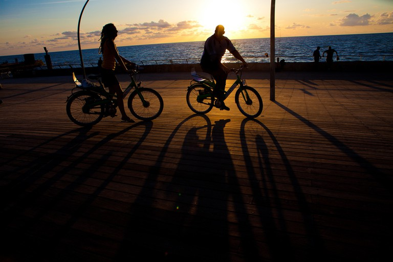Bike rides along on the beach with Tel Aviv's new boardwalk | Israel Tourism, Flickr
