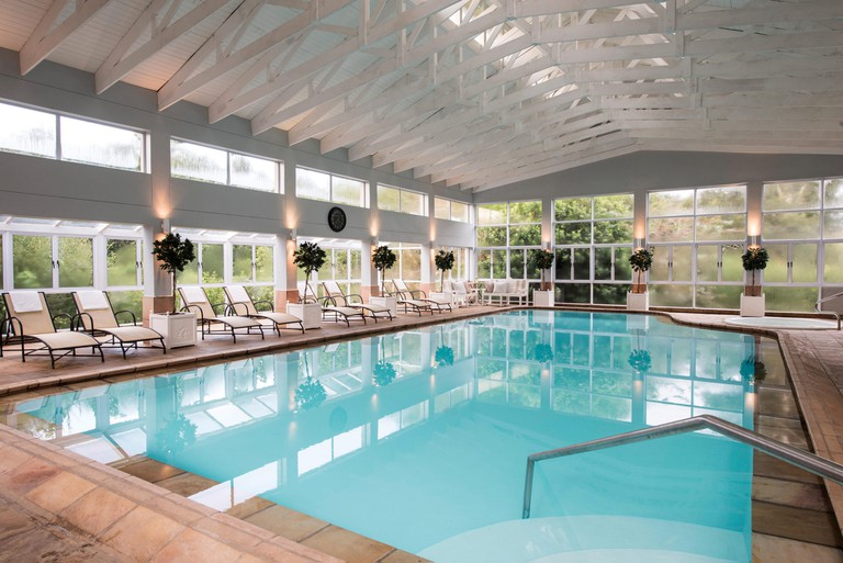 The indoor pool is often used for aquacise classes | Courtesy of Brookdale Health Hydro