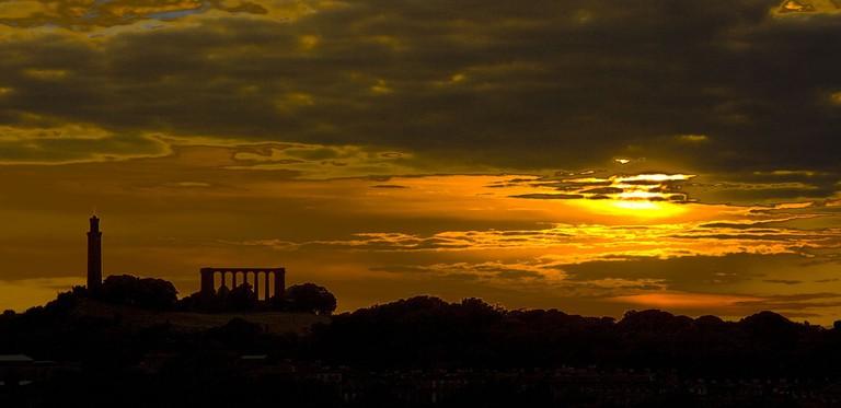 Calton Hill At Sunset | © Pixabay