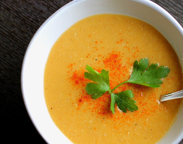 Close Up Red Lentil Soup © thegourmetgourmand.com