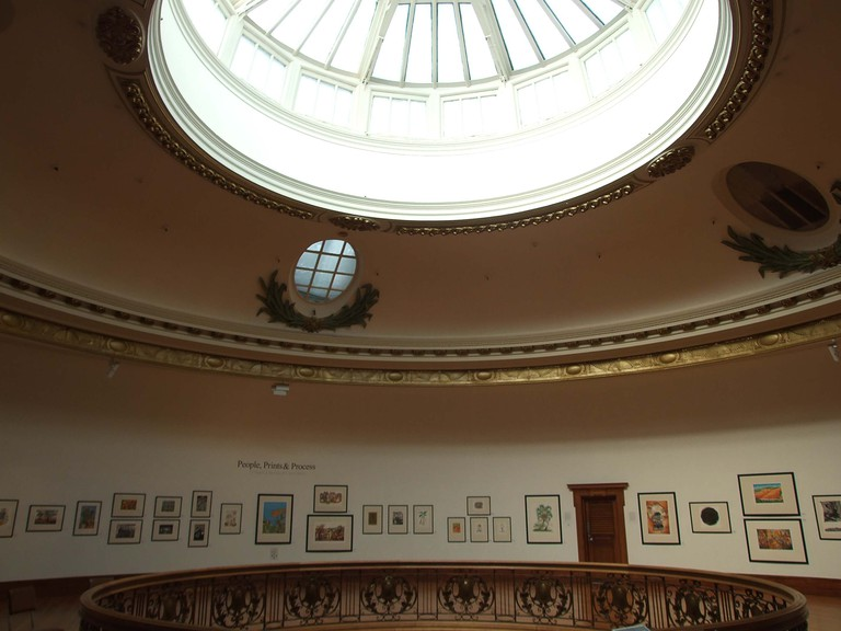 The interior of DAG has a spherical glass dome which fills the gallery with light | © Courtesy Publicity Matters