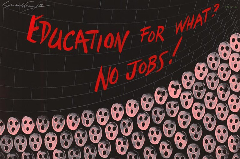 'Education For What? No Jobs!' © Gerald Scarfe