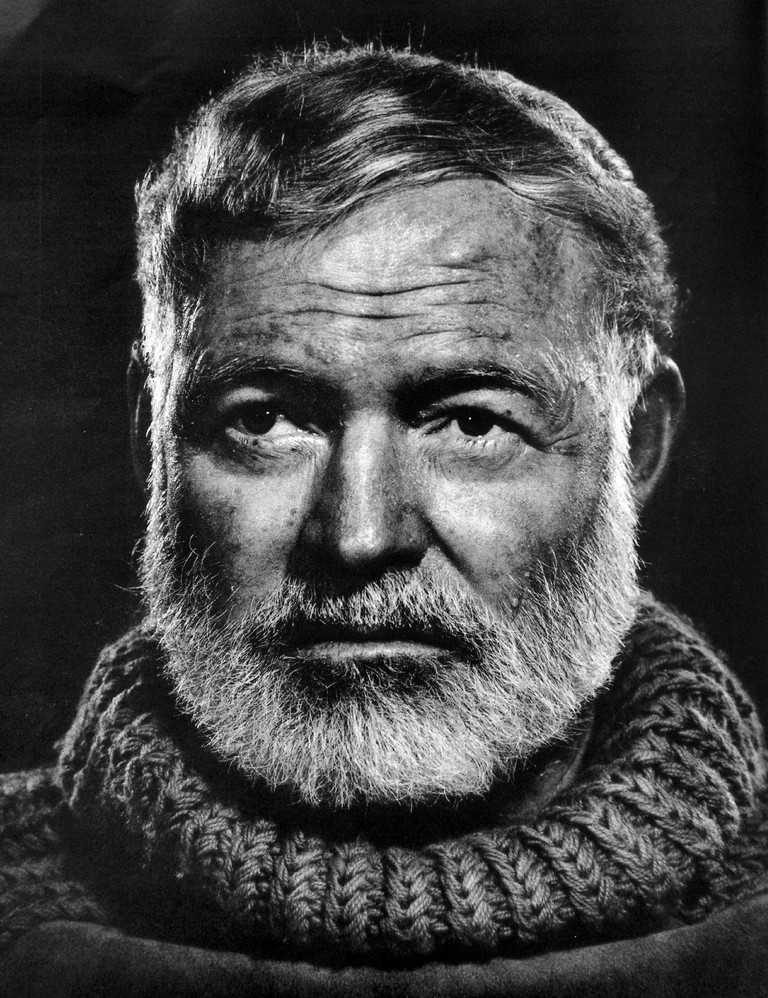 Ernest Hemingway on a cold, gloomy day