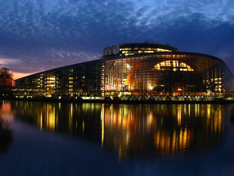 European Parliament in Strasbourg by night ©Cédric Puisney/Flickr