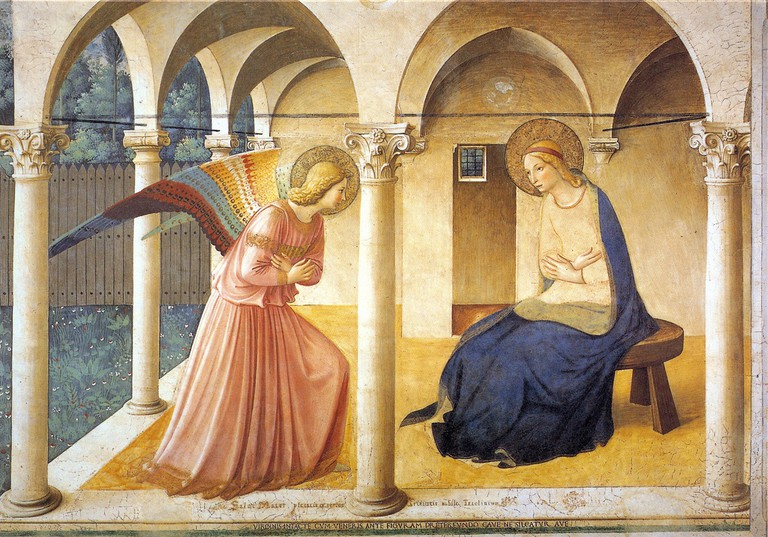 Fra Angelico's Annuciation Fresco, Jim Forest, Flikr