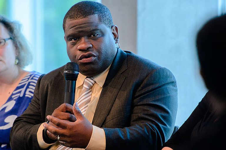 Gary Younge (2014)   ©Stephan Röhl for Heinrich-Böll-Stiftung/Wikimedia Commons