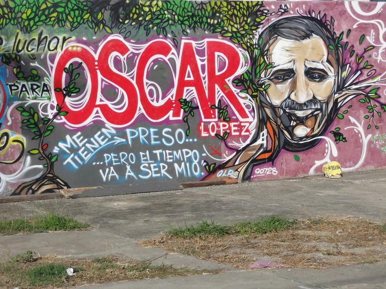 Graffiti in support of Oscar Lopez Rivera | © Tito Caraballo/ Flickr