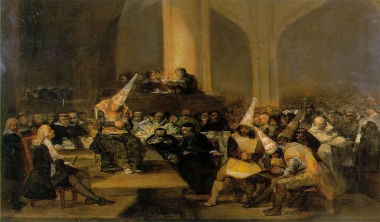 Inquisition Scene l by Francisco Goya   © Wikipedia