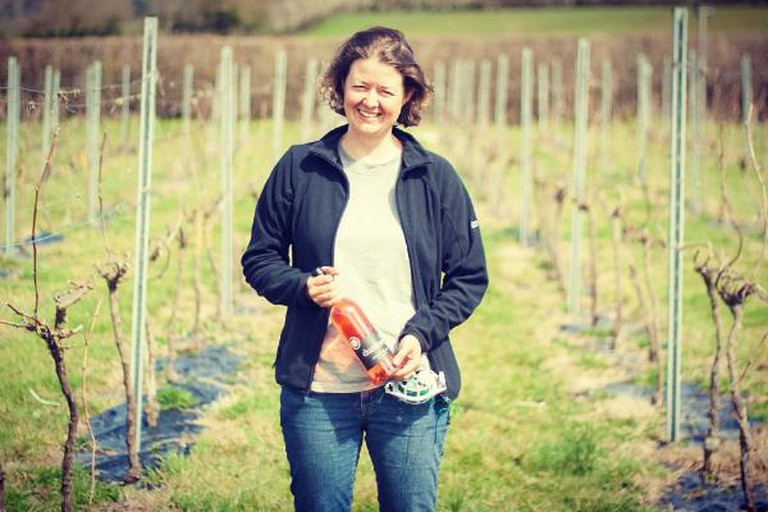 Ingrid Bates at Dunleavy Vineyard. Photo by Steph Wetherell