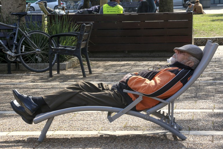 With beach chairs in central locations, relaxing is a city pastime | Ami Zoran, courtesy