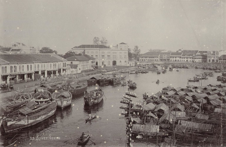 Port of Singapore circa 1900/WikiCommons
