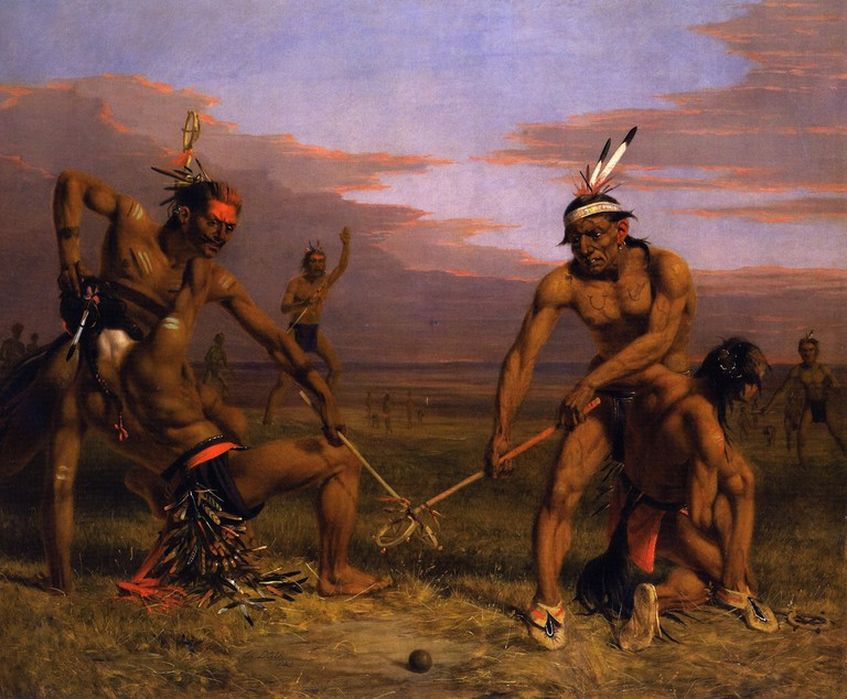 'Sioux Playing Ball' (1843) by Charles Deas | Courtesy of The Athenaeum/Gilcrease Museum