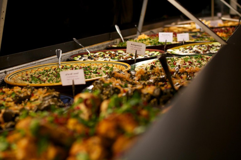 Lunch buffets are very popular | Courtesy of Laziza Restaurant