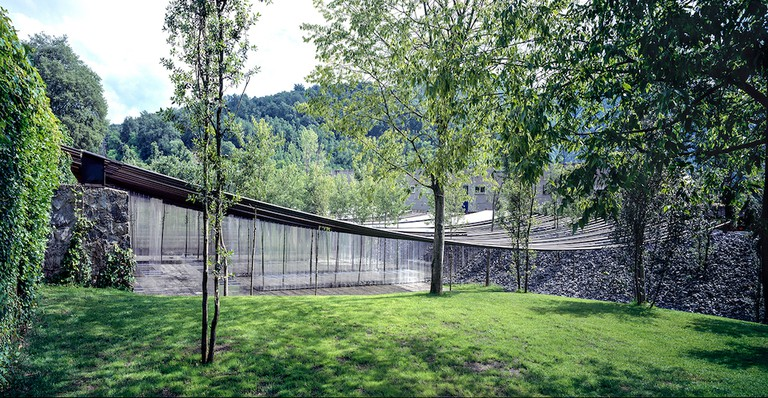 Les Cols Restaurant Marquee 2011 Olot, Girona, Spain Photo by Hisao Suzuki Courtesy of Pritzker Prize Architecture
