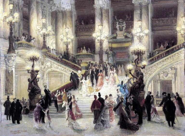 Detail from Louis Béroud's L'Escalier de l'opéra Garnier (1877) │© Louis Béroud / Wikimedia Commons