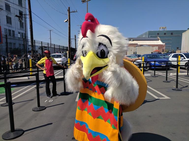 A friendly chicken mascot|©Juliet Bennett Rylah