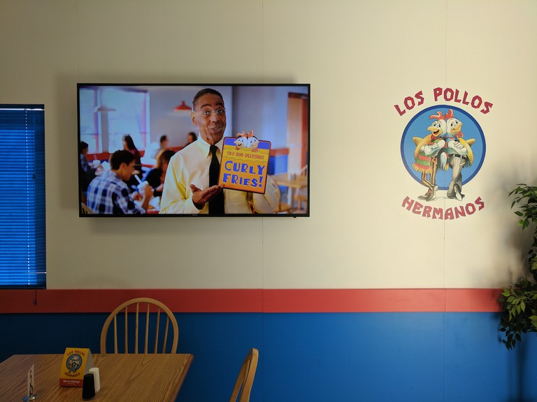 Gus Fring is featured in a commercial that plays inside|©Juliet Bennett Rylah
