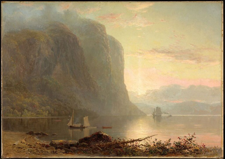 Lucius R. O'Brien Sunrise on the Saguenay, Cape Trinity (1880)   Courtesy of the National Gallery of Canada