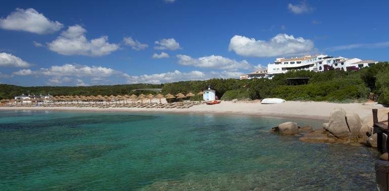 Private Beach Costa Smeralda courtesy Starwood Properties