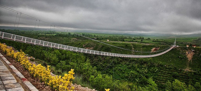 Meshkin Shahr Suspension Bridge | © Hmdbani / Wikimedia Commons