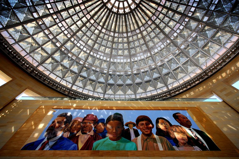 Richard Wyatt's City of Dreams/River of History, located at Union Station