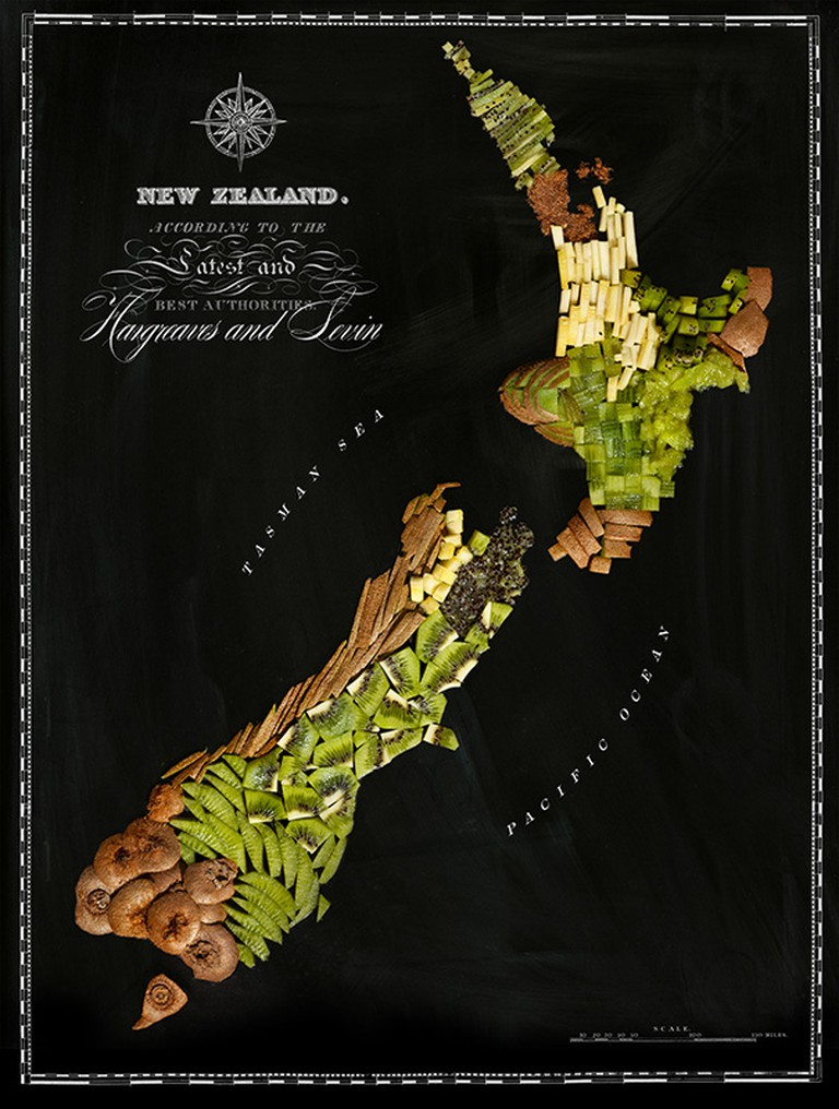 What else but Kiwi fruit for New Zealand? | © Henry Hargreaves and Caitlin Levin