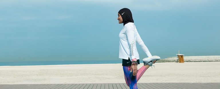 The Nike Pro sports hijab.
