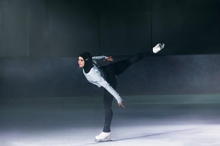 Figure skater Zahra Lari. | © Nike