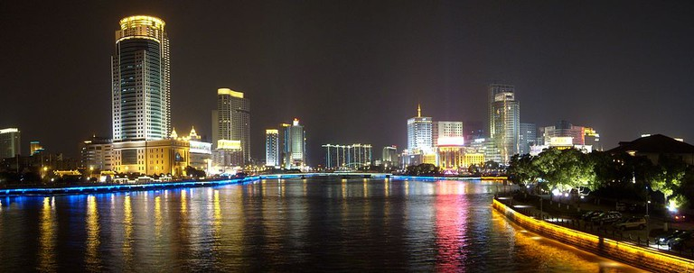 Ningbo at Night | Courtesy of Wikimedia Commons
