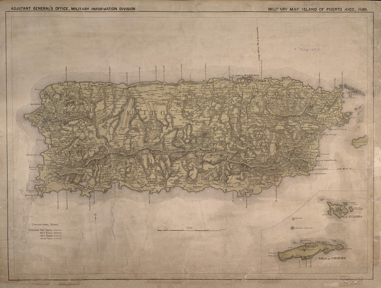 Map of Puerto Rico | © Norman B. Leventhal Map Center/ Flickr
