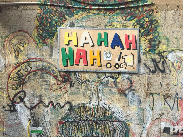 'Hahahahah!' -street art in Tel Aviv reminds us to laugh