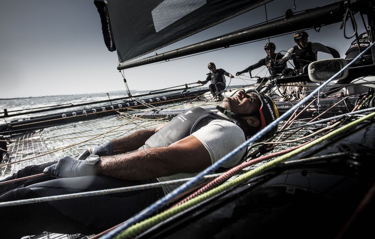 Oman Air Sailing Team compete during day 2. | © Red Bull Content Pool