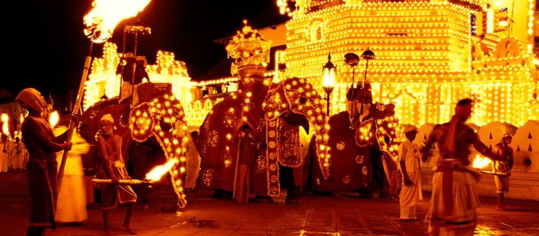 The festive preparation of the Kandy Esala Perahera |© wiki.commons