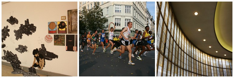 Get ready for an art experience like no other | © Bernd Sauer-Diete / Flickr; Ready to run at this year's Berlin Half Marathon | © Modi74 / Pixabay; Berlin's Schiller Theater | © Rosmarie Voegtli / Flickr
