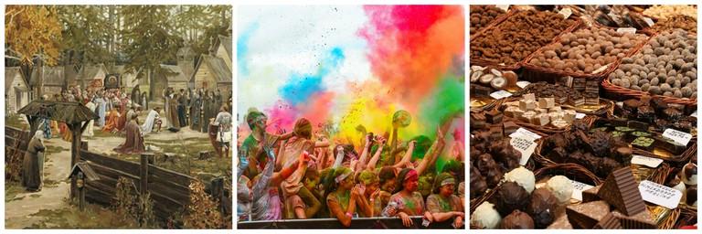 The medieval festival |© Diego Claudinho | The Colour Run |© Chris Phutully/Flickr | Chocolates |pixabay