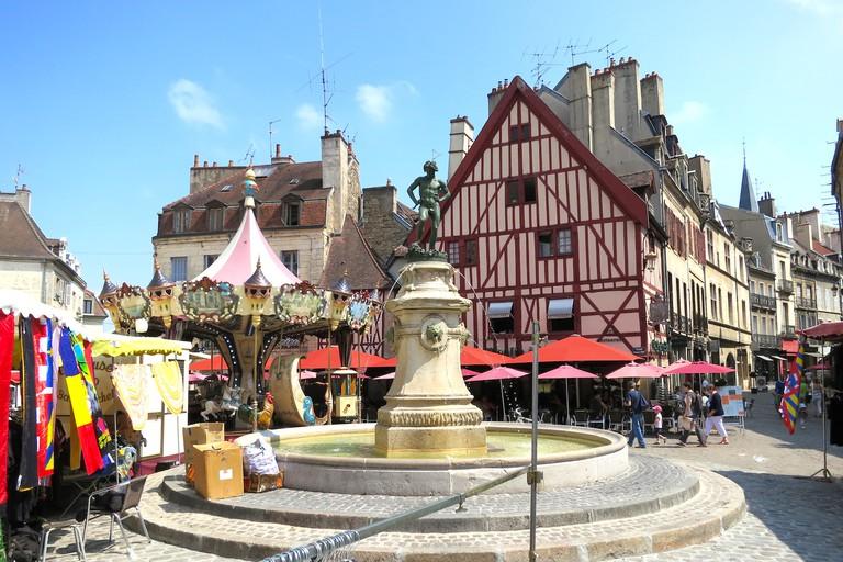 Place François Rude and Rue des Forges, Dijon ©Sylvia Edwards Davis