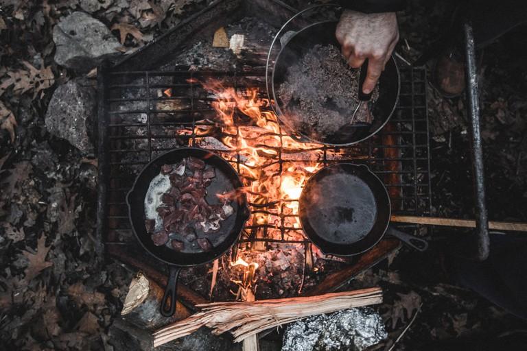 Potjiekos on the fire