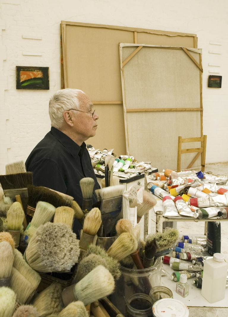 Artist Howard Hodgkin in his studio in central London   Photo by David Sandison/The Independe/REX/Shutterstock