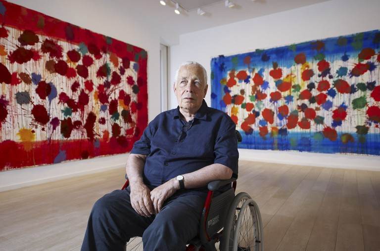 Artist Sir Howard Hodgkin, unveils 'As Time Goes By' at the Cristea Gallery, London   Photo by Micha Theiner/City AM/REX/Shutterstock