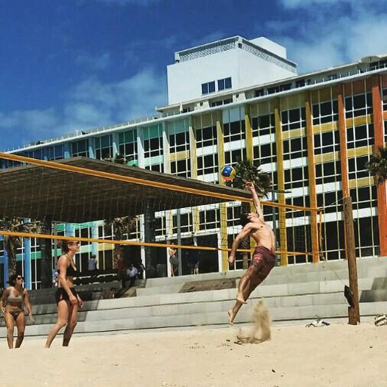 Israelis play volleyball on Tel Aviv's beach | Shay Bello, courtesy