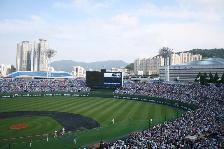 Sajik Baseball Stadium, home of the Lotte Giants | © Cheolstar