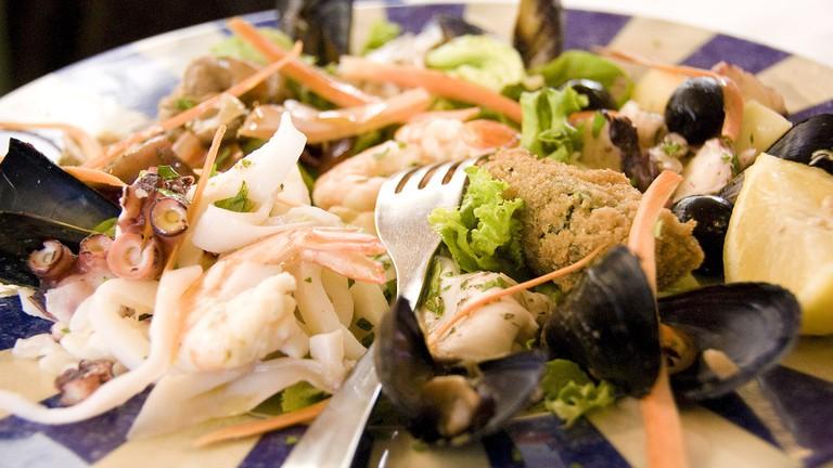 Italian food, seafood