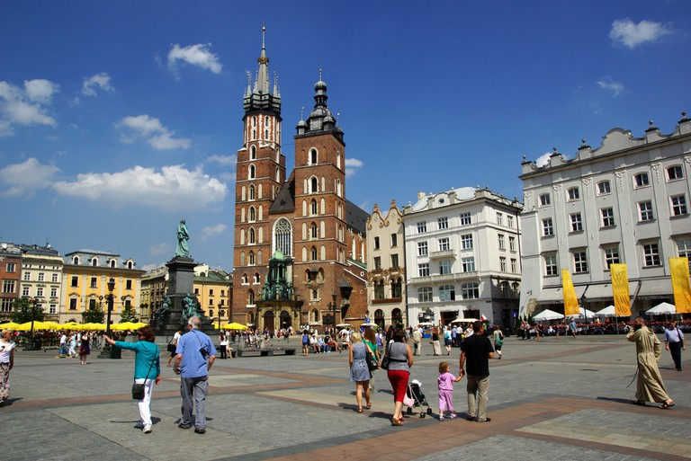 Main market square in Krakow
