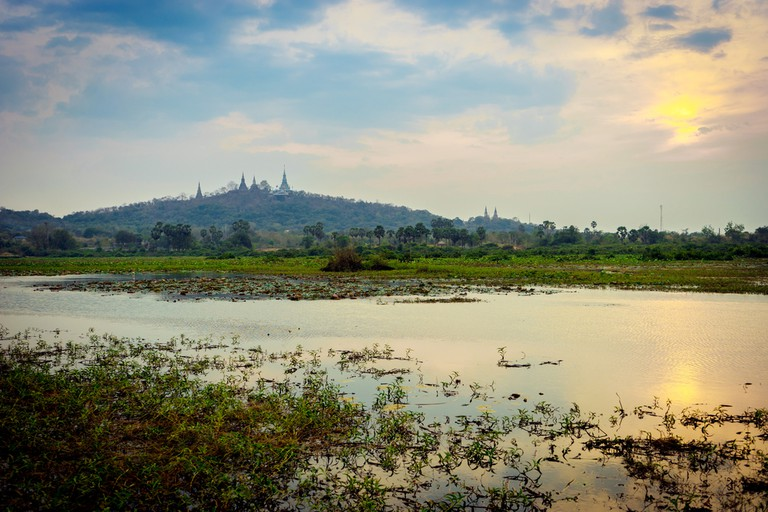 Phnom Oudong sits in the background