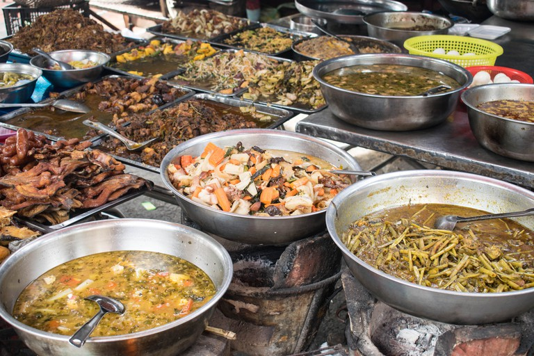 Street food is cheap in Cambodia