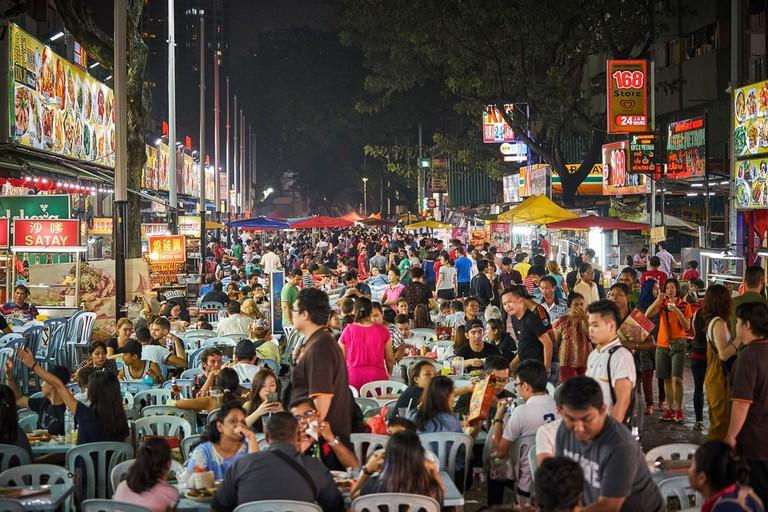 Jalan Alor food market, Kuala Lumpur, Malaysia.