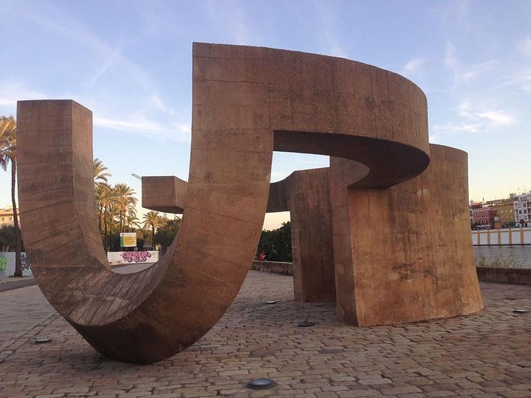 Monument to Tolerance by Eduardo Chillida in Seville, Spain   ©Manuelarosi / Wikimedia Commons