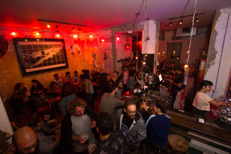 Part bar, part club, the Sputnik is always great place for a drink in Tel Aviv